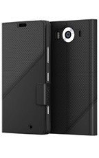 Etui Mozo Thin Flip Cover Czarny do Lumia 950