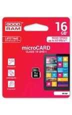 Goodram Karta pamięci microSDHC 16GB CL10 UHS 1